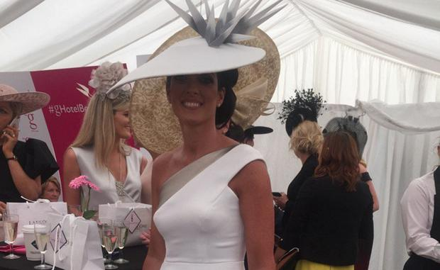 Lisa McGowan at the Galway Races