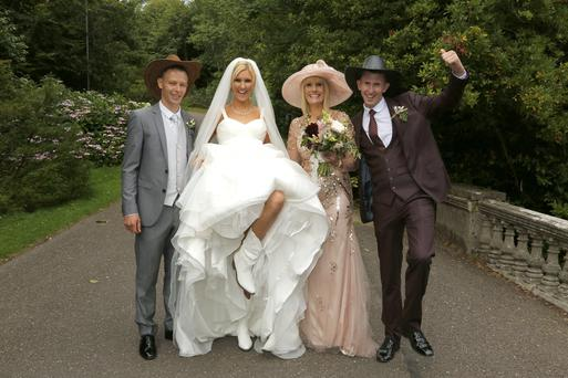 Dervla Burke on her wedding day. Picture: RTE