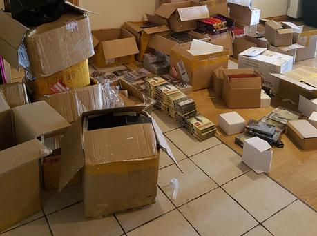 Gardaí seized €70,000 worth of counterfeit DVDs and beauty products.