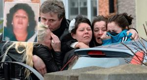 The heart broken family of Mary Dargan, inset, after she was killed