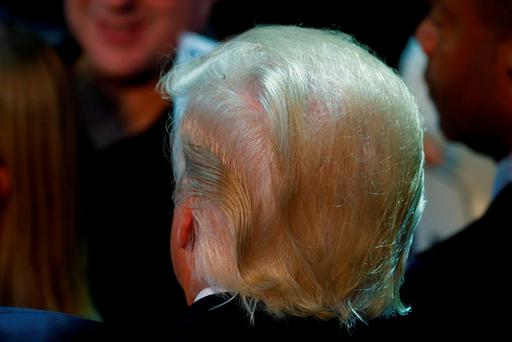 Republican presidential nominee Donald Trump is pictured following a campaign rally in Toledo, Ohio, U.S., July 27, 2016