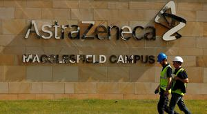A sign is seen at an AstraZeneca site in Macclesfield, central England. Photo: Reuters