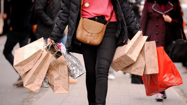 Retail sales rose by 5.3pc on an annual basis, but declined by 5.8pc compared to May of this year. Photo: PA