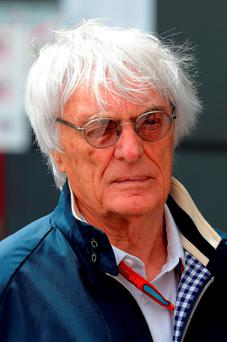 Bernie Ecclestone, chief executive of the sport's governing body, said the 'halo' safety device was unanimously opposed. Photo: PA Wire