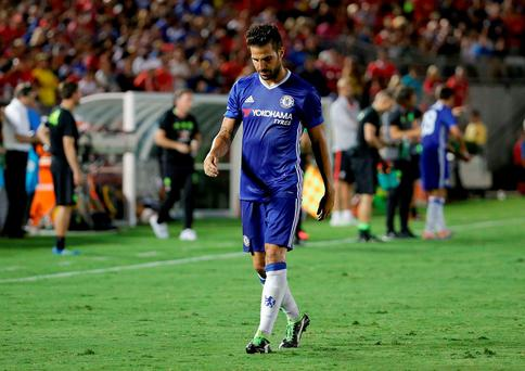 Cesc Fabregas Chelsea is sent off in the second half after receiving a red card against Liverpool during the 2016 International Champions Cup. Photo: Getty Images
