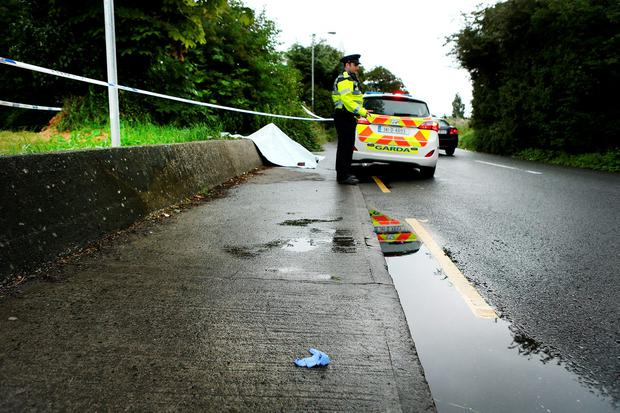 The scene of the attack on the Ninth Lock road, Clondalkin. Photo: Gerry Mooney