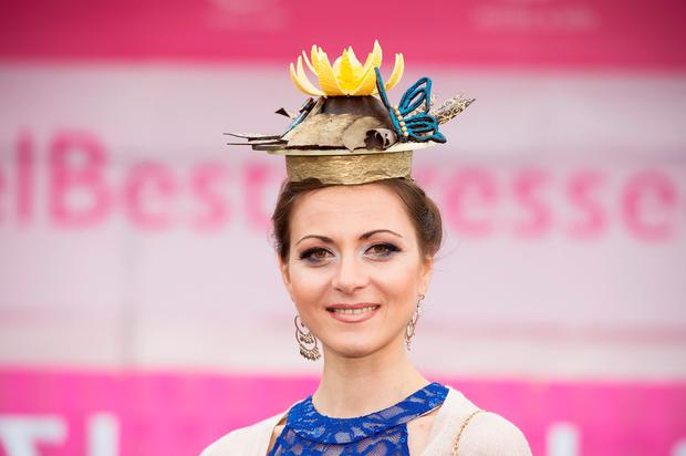 Ilona Ciciala, from Poland, wore a chocolate hat. Photo: Andrew Downes