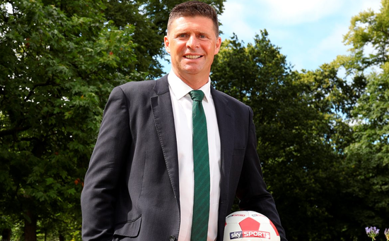 Niall Quinn in Dublin yesterday to promote Sky Sports' coverage of the new Premier League season, which will see them show a record 159 games live, including exclusive 3.00 Saturday kick-offs for the first time. Picture: INPHO/Dan Sheridan