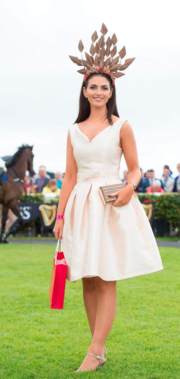 Garda Ciara Murphy, from Dunboyne, winner of the Best Hat competition. Photo: Andrew Downes
