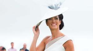 Best Dressed Lady competition winner Lisa McGowan, from Tullamore, Co Offaly. Photo: Andrew Downes