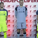 Liverpool stars wearing the new kit