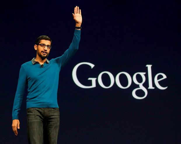 Google boss Sundar Pichai. Pic: AP Photo/Jeff Chiu