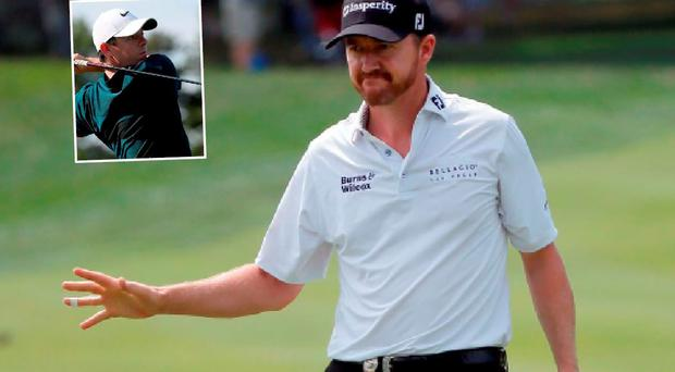 Jimmy Walker and (inset) Rory McIlroy