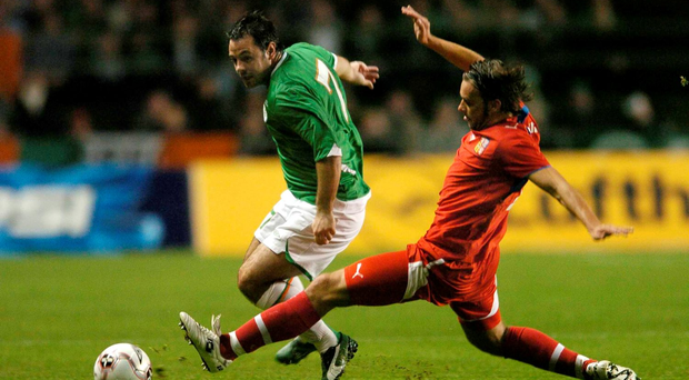Andy Reid in action for Ireland