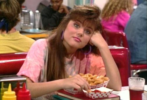 Tiffani Thiesan as Kelly Kapowski on Saved By The Bell