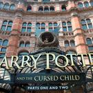 The Palace Theatre in central London, with signage for the new Harry Potter and the Cursed Child production, which will officially debut tonight. Photo: Anthony Devlin/PA Wire