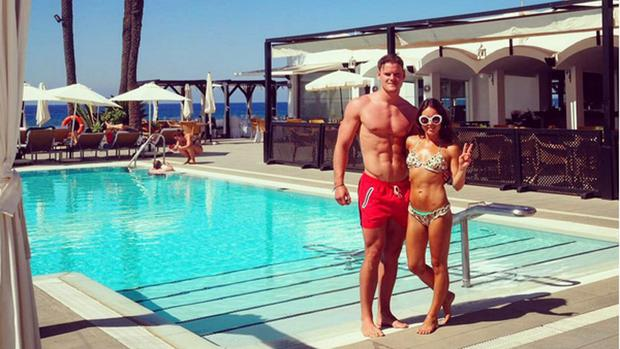 Louise Thompson with new beau Ryan Libbey. Picture: Instagram