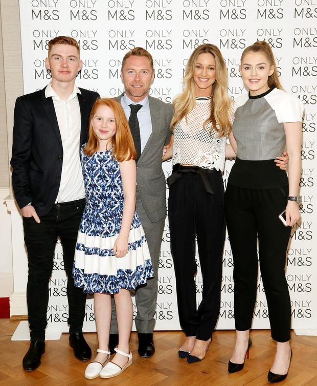 (L to R) Jack, Ali, Ronan, Storm and Missy Keating at the 2016 Marks & Spencer Ireland Marie Keating Foundation Celebrity Golf Classic. Picture: Kieran Harnett