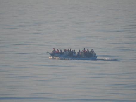 LÉ James Joyce rescues migrants from the water north west of Tripoli