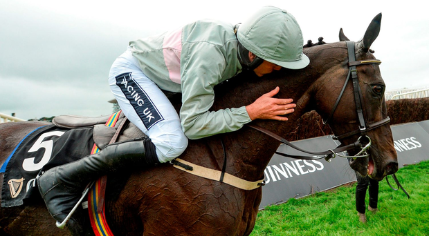 Ruby Walsh won the Guinness Galway Hurdle on Clondaw Warrior with probably his finest ever Galway ride. Photo by Cody Glenn/Sportsfile