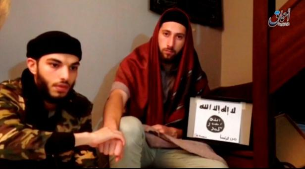Abdel-Malik Nabil Petitjean and Adel Kermiche, the Isil murderers of an 85-year-old priest in Normandy Picture: Reuters