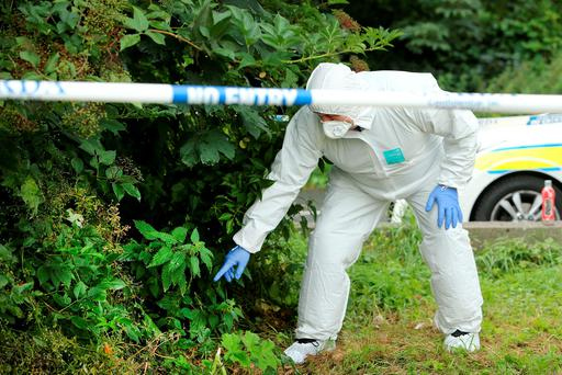 A forensic investigator at the scene of the rape Picture: Gerry Mooney