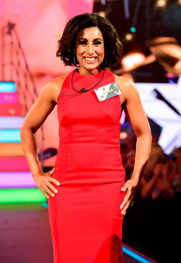 Saira Khan is seen entering the Celebrity Big Brother house
