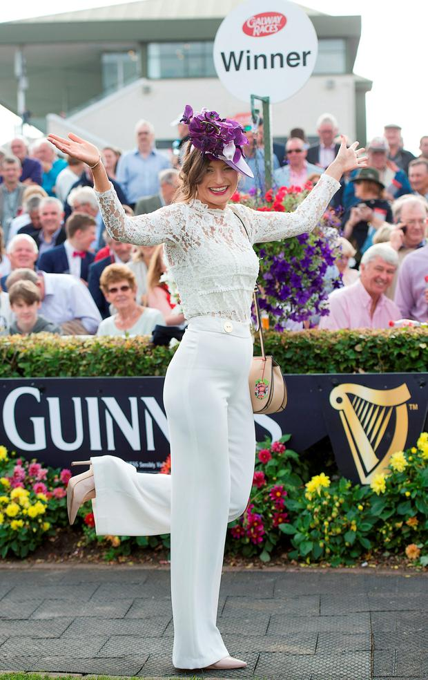 At day five of the Galway Races was Friday's Fair Lady winner Aoife O'Hanlon from Bushy Park, Galway Photos: Andrew Downes and Cody Glenn