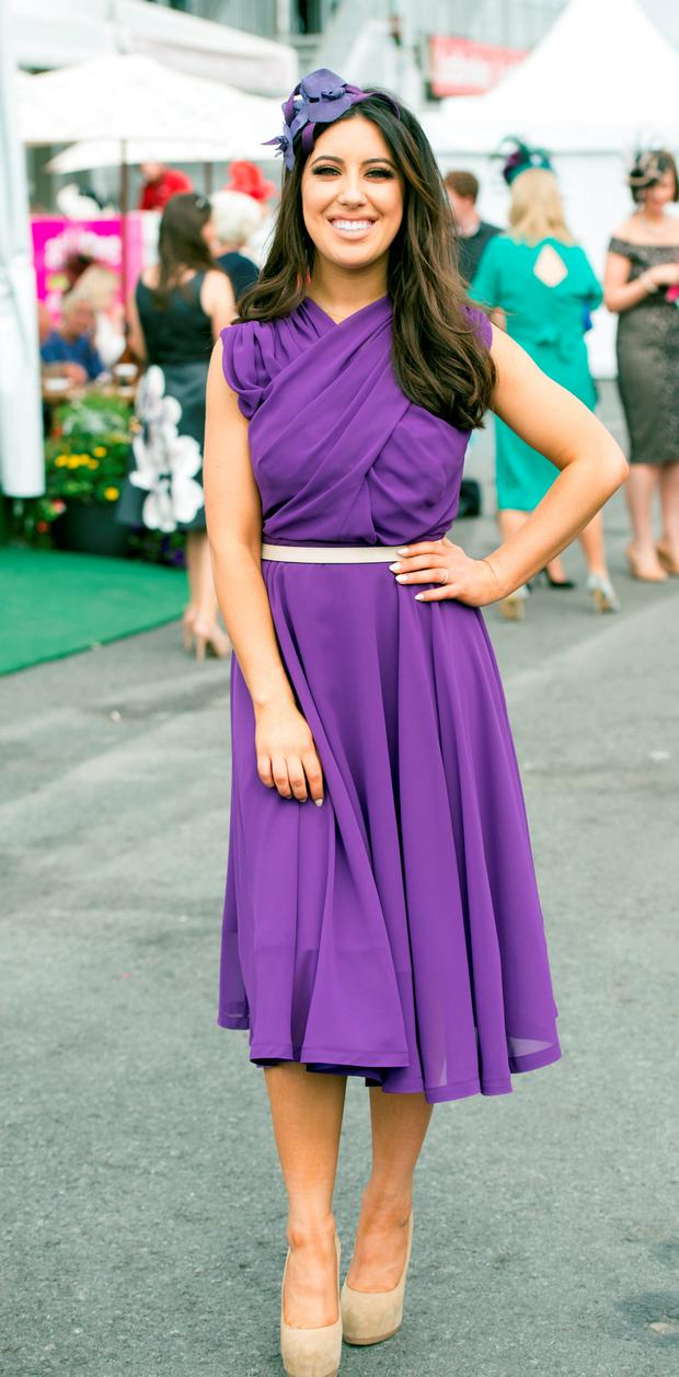 At day five of the Galway Races was 2fm presenter Lottie Ryan. Photos: Andrew Downes and Cody Glenn