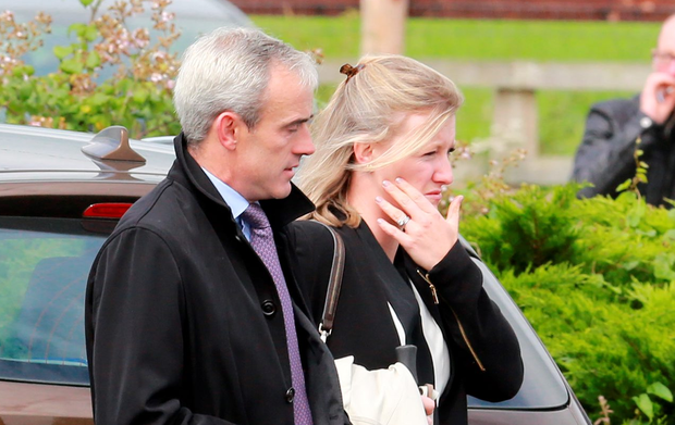 Mourners at the funeral of JT McNamara included Ruby and Gillian Walsh Photos: Frank McGrath