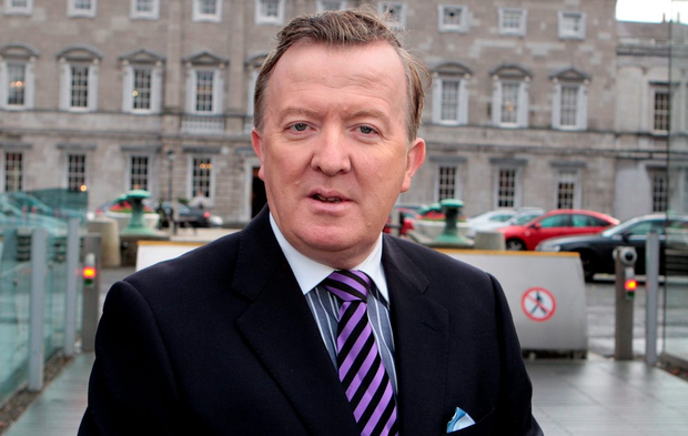 John Perry at Leinster House Photo: Tom Burke