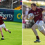 Joe Canning and Gary Sice in action