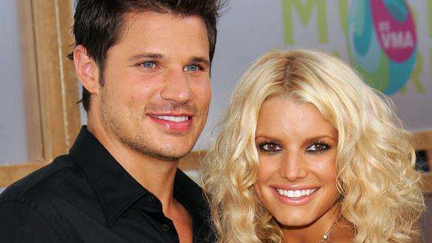 Jessica Simpson and ex husband Nick Lachey in 2005