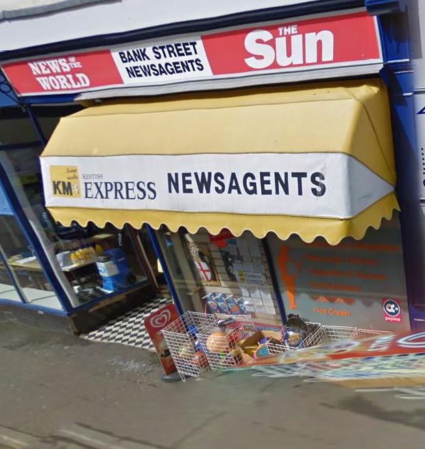 Bank Street Newsagents Credit: Google Maps