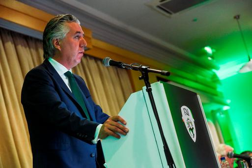 FAI Chief Executive John Delaney during the FAI AGM at The Hotel Minella in Clonmel, Co Tipperary. Photo by David Maher/Sportsfile
