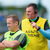 Colm Collins (left) and Mick Bohan: 'If you want fellas in Clare to play football you better provide some form of entertainment, because guys aren't going to do that slog for nothing,' says Bohan. Photo: Sportsfile