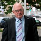 Former Head of Finance at Anglo Irish Bank, Willie McAteer arriving to Dublin Circuit Criminal Court. Pic: Collins Courts