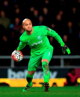 West Ham United goalkeeper Darren Randolph has signed a new four-year contract. Photo: Nick Potts/PA Wire.