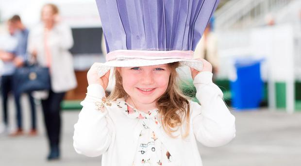 Emma Byrne Mervue 4, at the mad hatter family day of the Galway Races. Photo: Andrew Downes