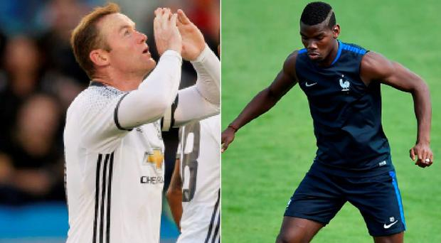 Wayne Rooney and Paul Pogba