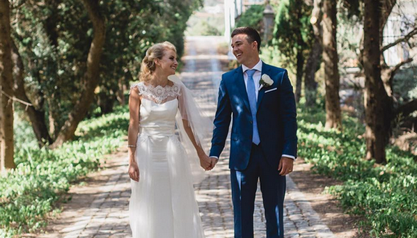 Eoin O'Malley and his new bride Lara O'Malley. Photo: Instagram