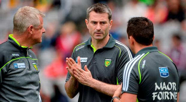 Donegal manager Rory Gallagher during the GAA Football All-Ireland Senior Championship Round 4B match between Donegal and Cork at Croke Park in Dublin. Photo by Oliver McVeigh/Sportsfile
