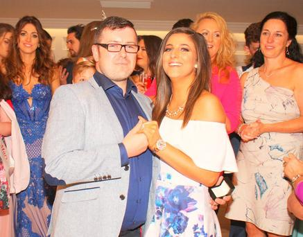 Joe O'Donnell and his fiancée Shauna Keane after he proposed. Photo: Matt Britton
