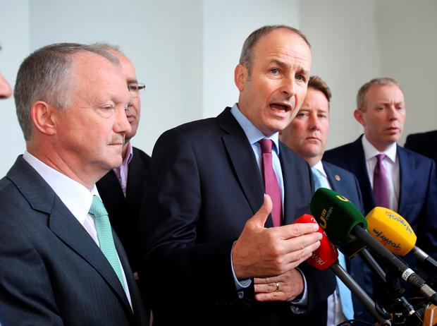 Fianna Fáil leader Micheál Martin said any new body could be set up without the support of the DUP. Photo: Tom Burke