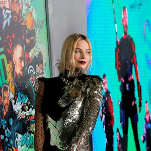 Actress Margot Robbie attends the world premiere of