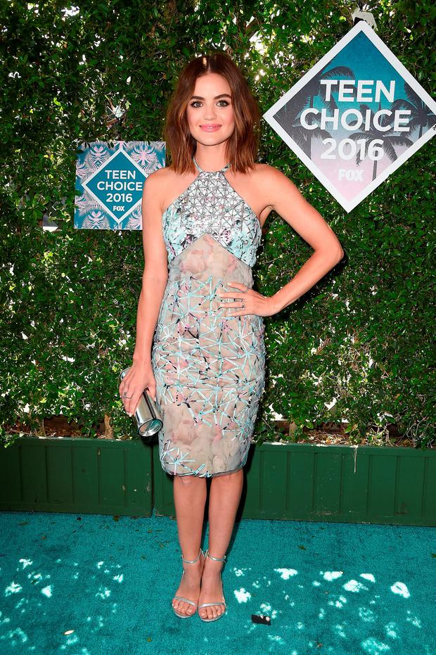 Actress Lucy Hale attends the Teen Choice Awards 2016 at The Forum on July 31, 2016 in Inglewood, California. (Photo by Frazer Harrison/Getty Images)