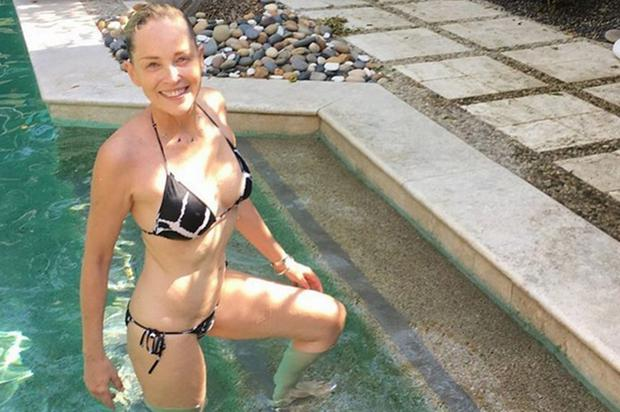 Sharon Stone shared this bikini photo on Instagram