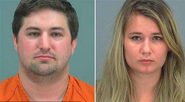 Brent and Brianna Daley, Arizona parents who abandoned their 2-year-old son to play Pokemon Go. Pinal County Adult Detn. Center