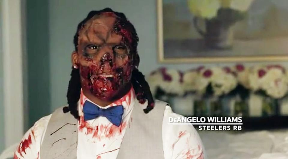 DeAngelo Williams on his wedding day. Picture: ESPN