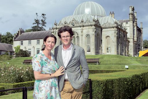 Anthony Ardee and his wife Fionnuala outside Killruddery, the house which has been lived in by 16 generations of Anthony's family. Photo: Tony Gavin